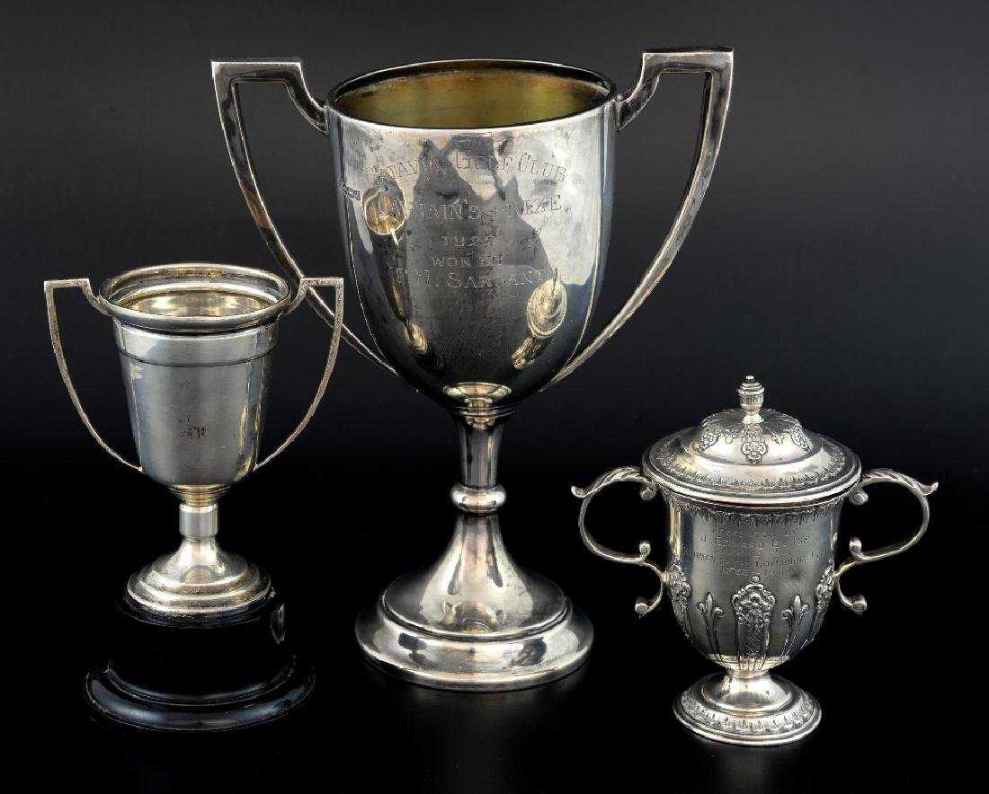 George V silver twin-handled trophy cup, by James