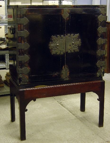 3: Chinese lacquered cabinet