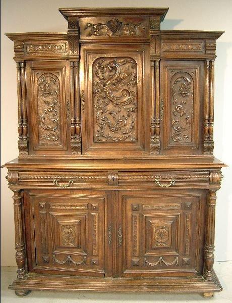4: Continental 19th century mahogany sideboard