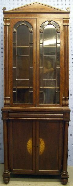 10: 19th century mahogany bookcase