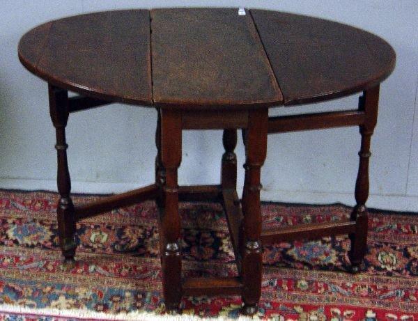 11: 18th Century oak gateleg table