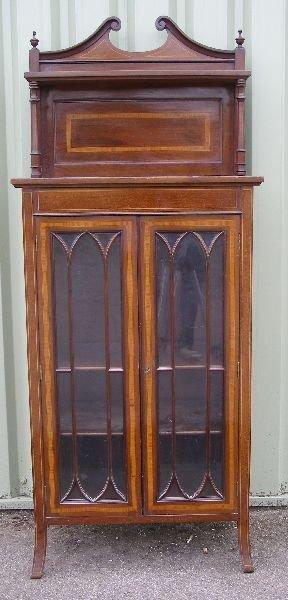 14: Edwardian mahogany  music cabinet