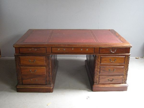 21: 20th Century partners mahogany desk