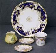 395: Royal Worcester blush ivory vase etc