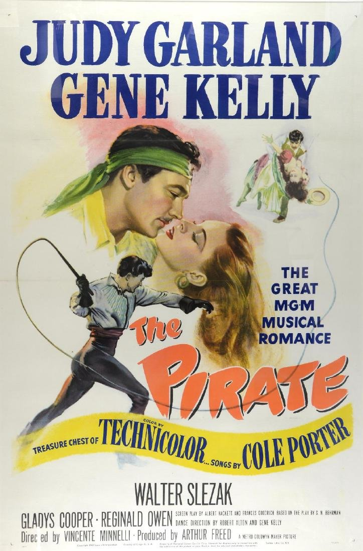 The Pirate (1948) US One Sheet film poster, starri