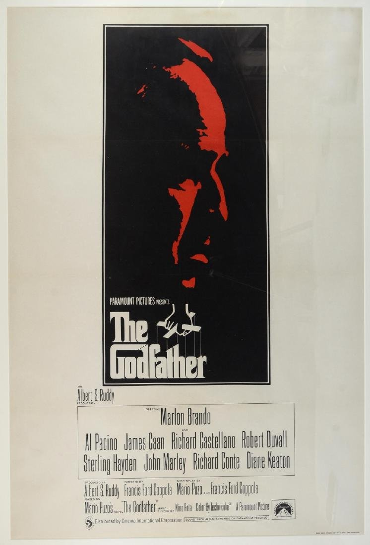 The Godfather (1972) UK One sheet film poster, dir