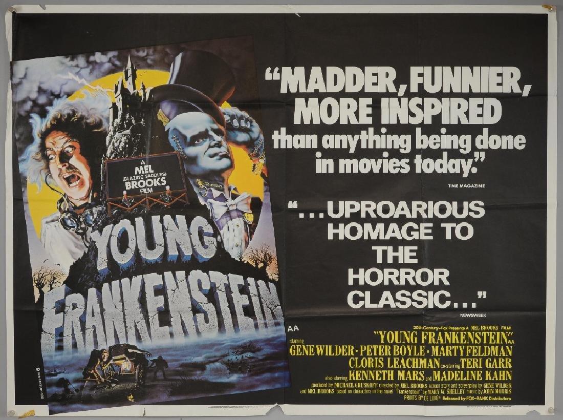 Young Frankenstein (1974) British Quad film poster
