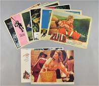 Eight individual US Lobby cards including Zulu 1,