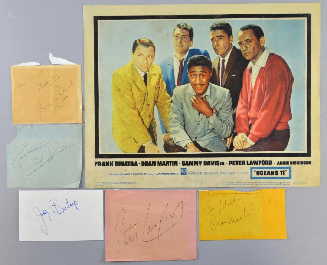 Ocean's 11 (1960) US Lobby card No. 8 with signed