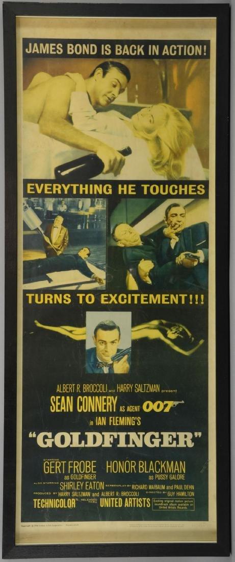 James Bond Goldfinger (1964) US Insert film poster