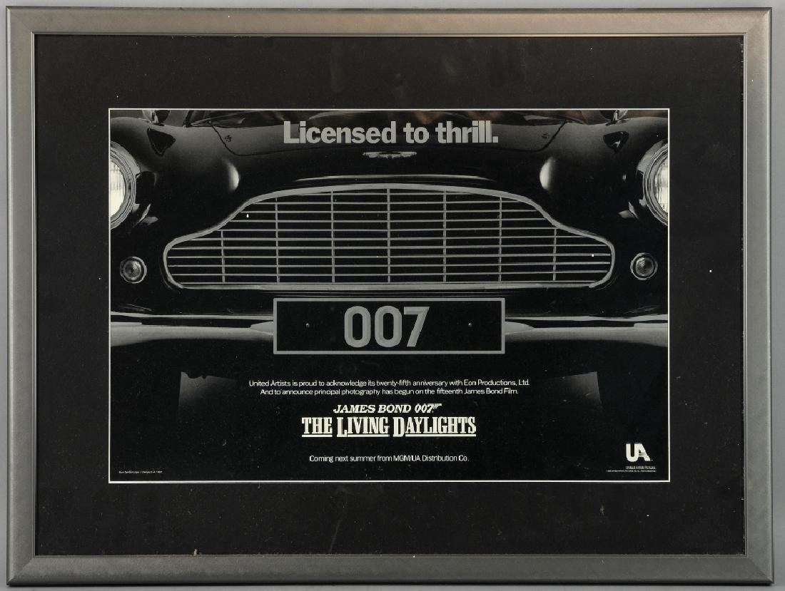 James Bond The Living Daylights (1986) Special pos