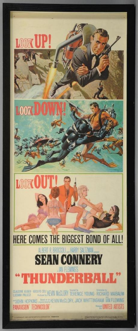 James Bond Thunderball (1965) US Insert film poste