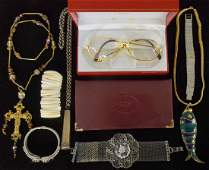 A group of Vintage items including a Cartier Borde