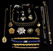 Collection of costume jewellery in jewellery box,