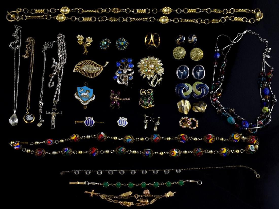 Gold children's charm bracelet and collection of c