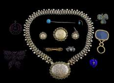 Collection of antique jewellery including a Victo