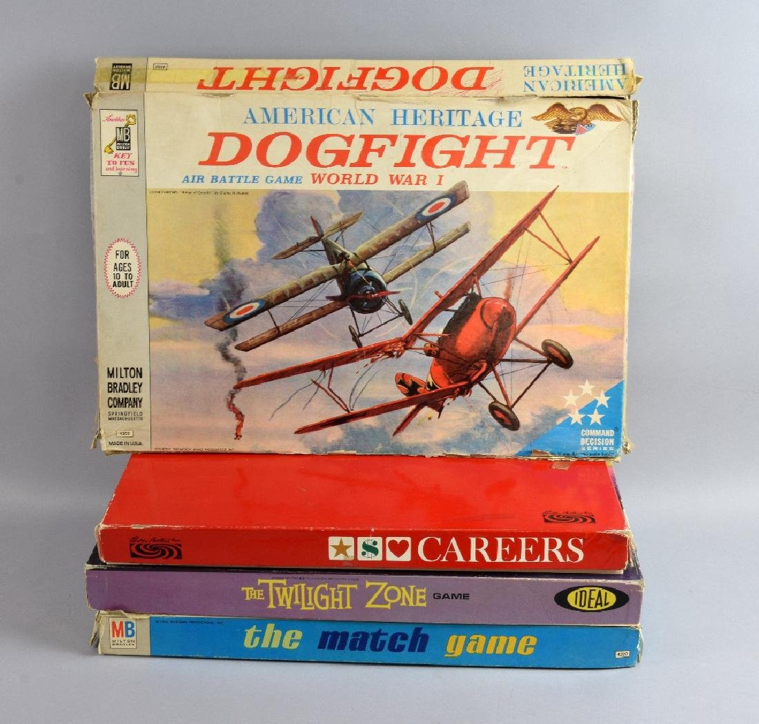 Collection of board games including The Twilight Z