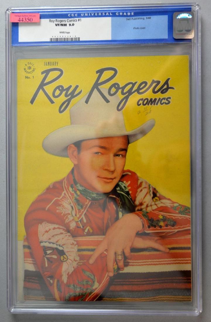Roy Rogers Comics No. 1 (Dell, 1948) CGC VF/NM 9.0