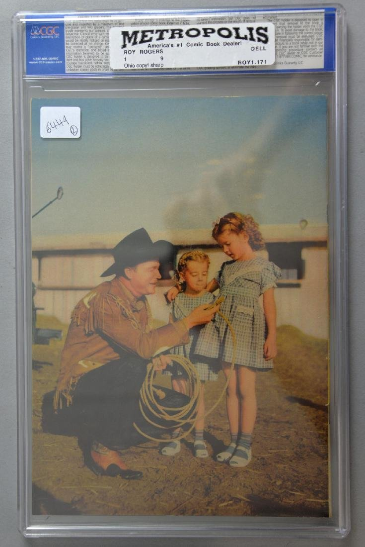 Roy Rogers Comics No. 1 (Dell, 1948) CGC VF/NM 9.0 - 2