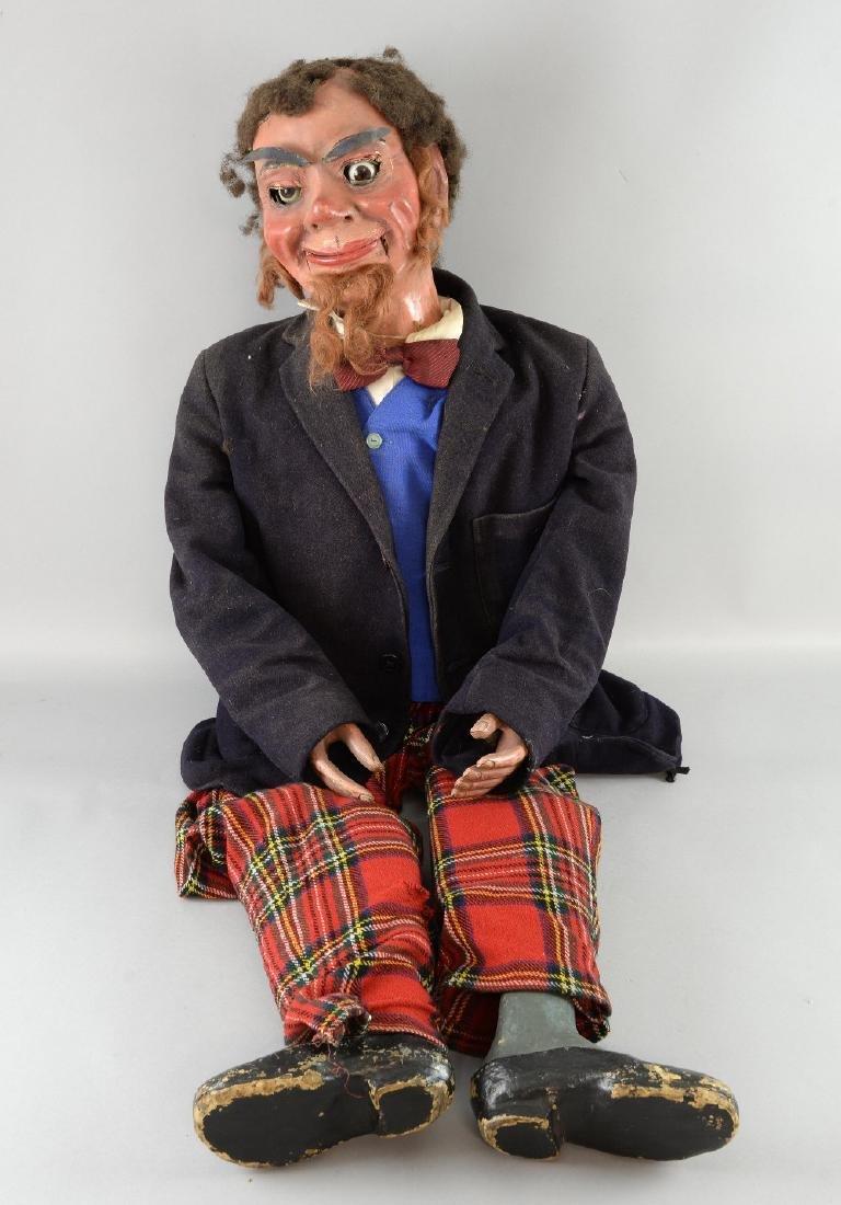A professional ventriloquist's dummy, Painted papi