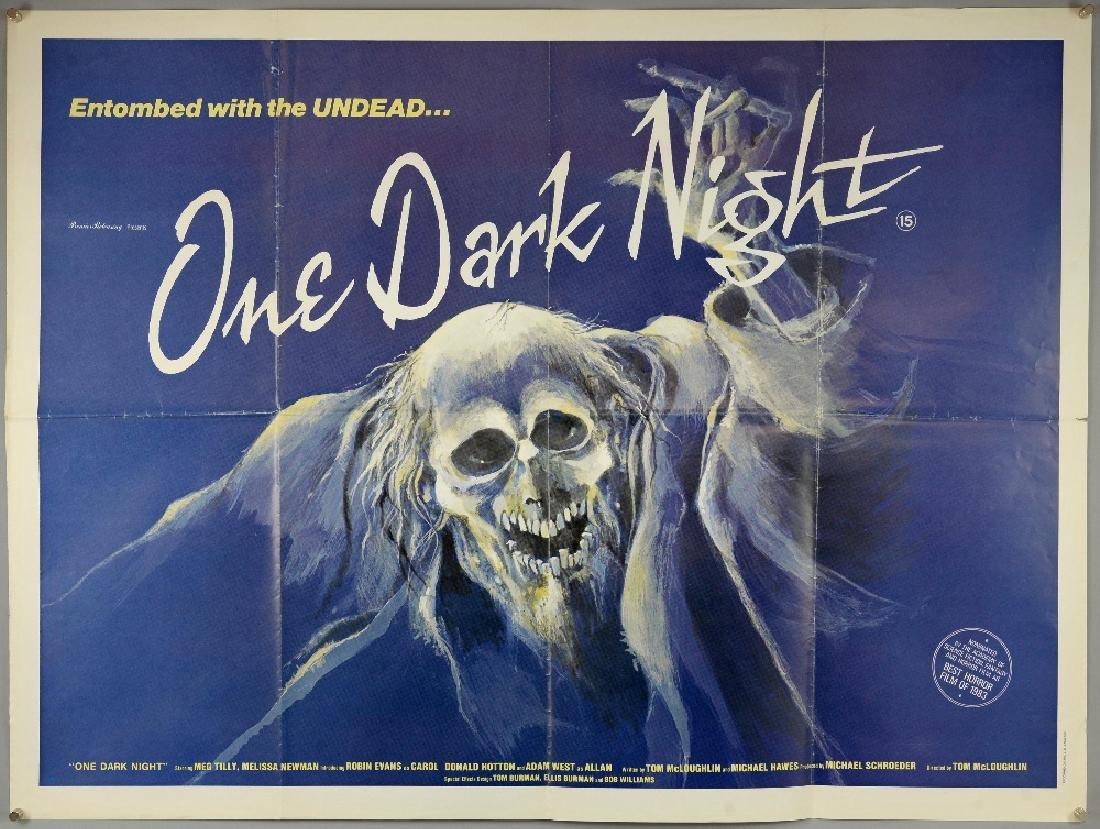 One Dark Night (1983) British Quad film poster, Ho
