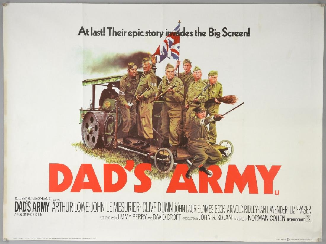 Dad's Army (1971) British Quad film poster, comedy