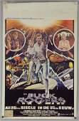 Six Belgian film posters including Star Wars, Retu