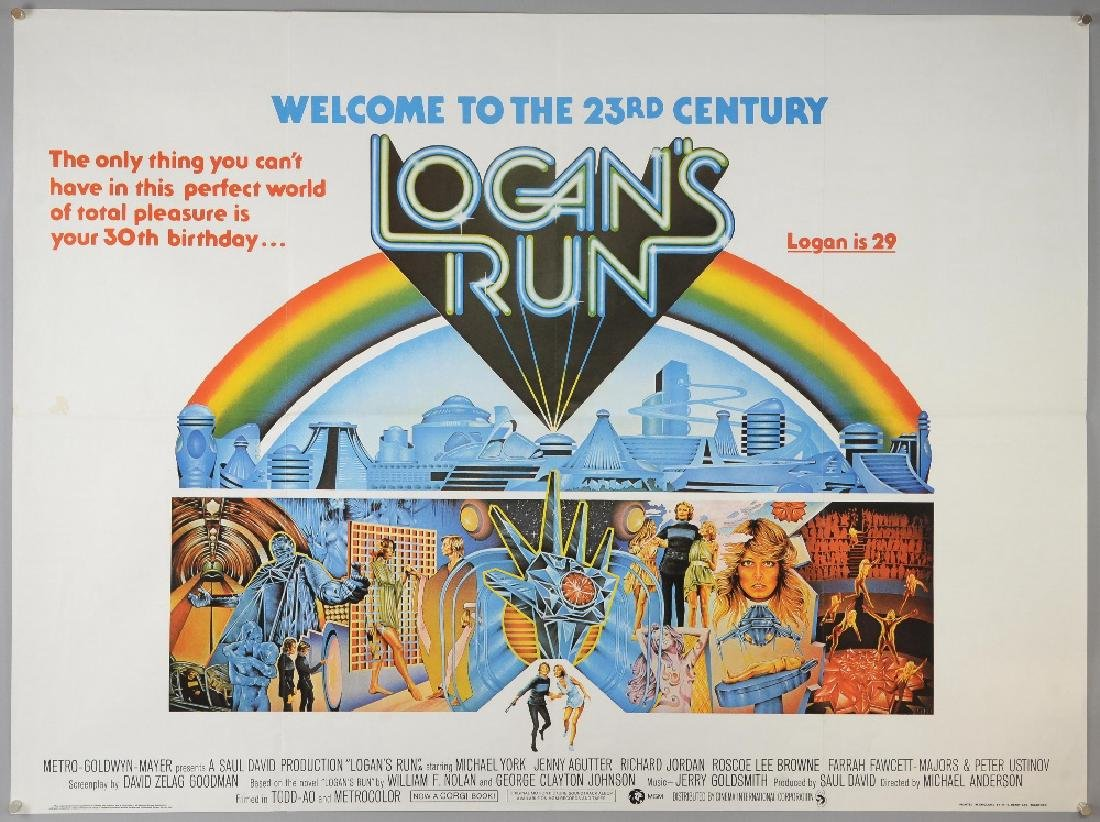 Logan's Run (1976) British Quad film poster, cult
