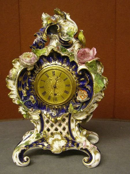 1: 19th century Derby style porcelain and