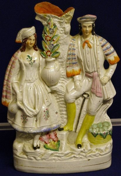 2: 19th century Staffordshire flat back figural