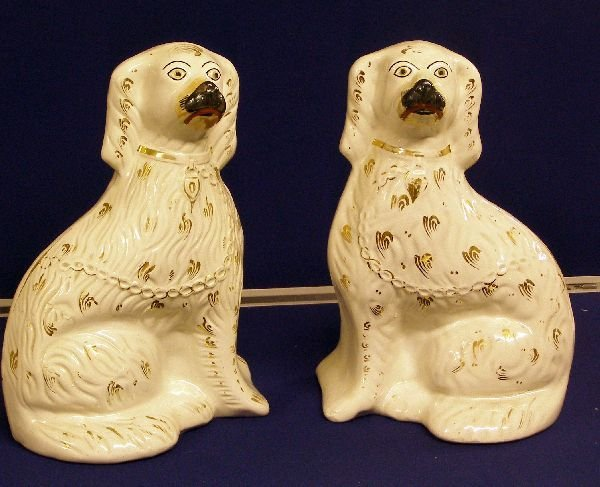 3: Pair of 19th century Staffordshire flat back