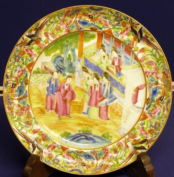 11: 19th century Cantonese plate, the border