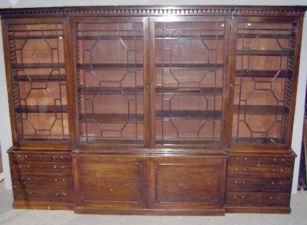 1248: George III mahogany breakfront library