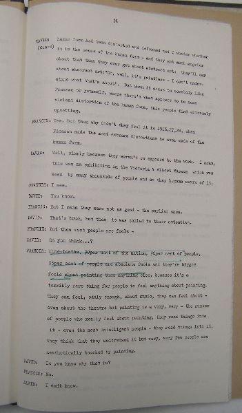 2001: Interview David Sylvester and Francis Bacon, boun - 3