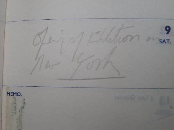 2002: Francis Bacon; Crockfords black leather pocket di - 4