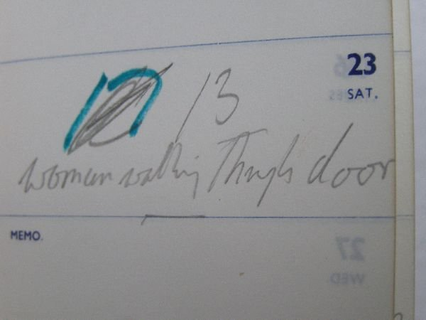 2002: Francis Bacon; Crockfords black leather pocket di - 6