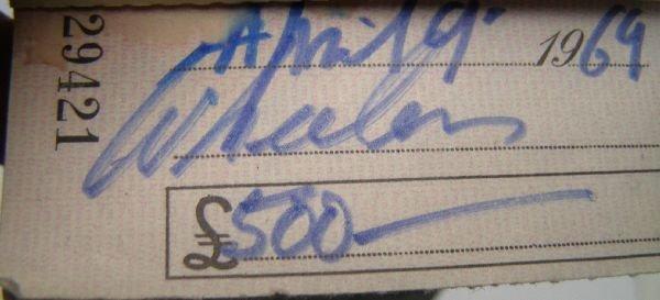 2009: Francis Bacon signed cheque No. 022081. A cheque  - 4