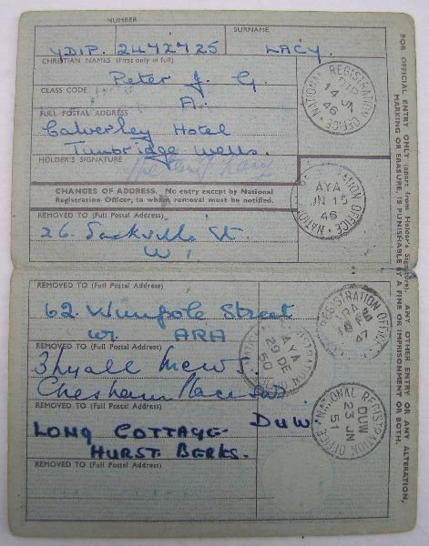 2024: Identity card of Francis Bacon's lover Peter Lacy - 2
