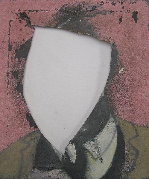 2035: Francis Bacon, mutilated canvas, sketch for a por