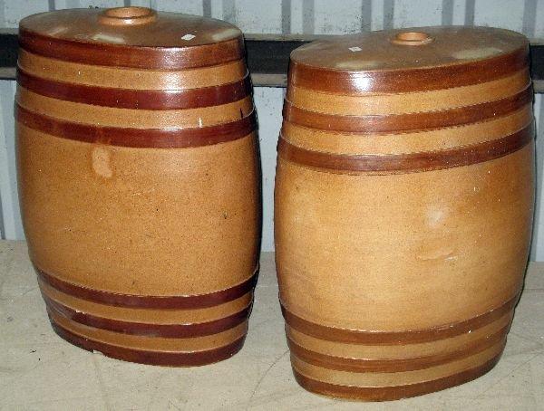 1: Pair of Doulton Pottery Lambeth stoneware