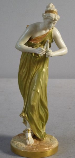 2: Royal Worcester figure of a lady playing