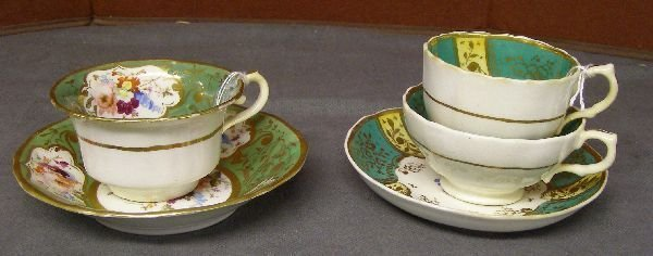 10: 19th century green, gilt and flower
