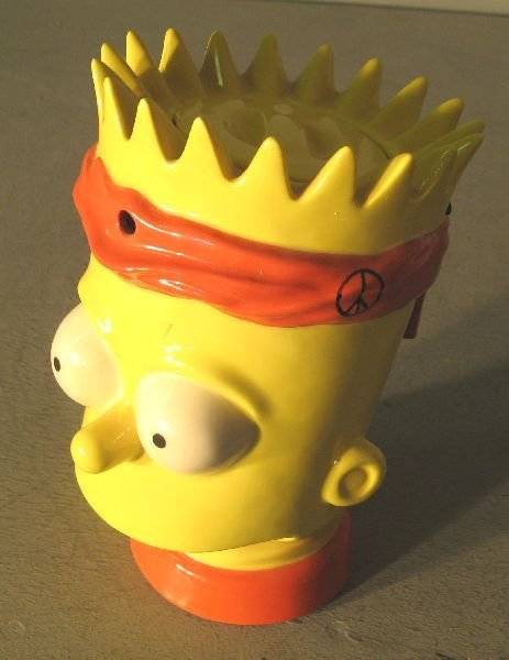 "15: Bart Simpson novelty teapot, 9"" high"
