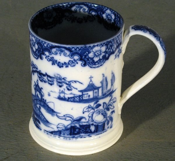 17: Early 19th century Staffordshire blue and