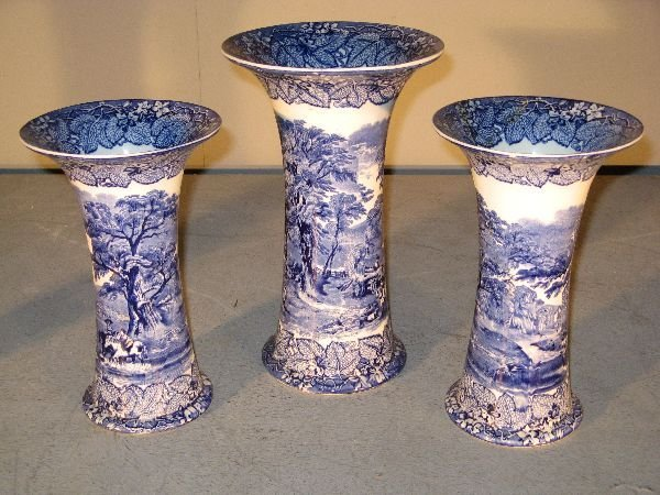 19: Set of three Mason's Ironstone blue and