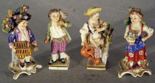 24: Four Dresden figures