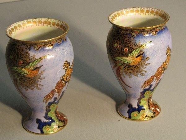63: Pair of Carlton Ware lustre vases