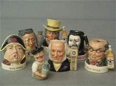 195: Seven Royal Doulton character jugs