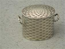 679: Edward VII silver oval box in the form of a