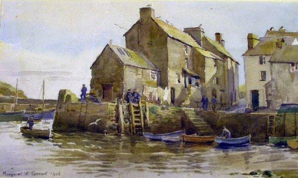 712: Margaret Tarrant, Polperro harbour,